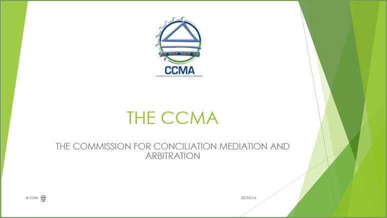 CCMA Presentation