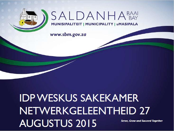 Saldanha Bay Municipality's Integrated Development Plan – August 2015